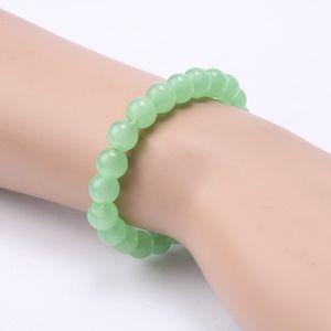 Jewelry - Green Opal Round Chakra Beaded Stretch Bracelet